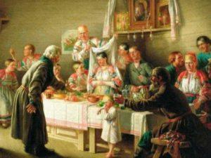 Сесть за стол можно было только после разрешения хозяев. Первыми словами сватов были к, примеру, «ваш товар, наш купец» либо что-то в этом роде.